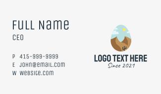Desert Landscape Egg Business Card