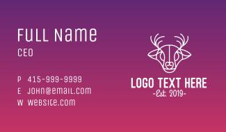 Minimalist Deer Outline Business Card