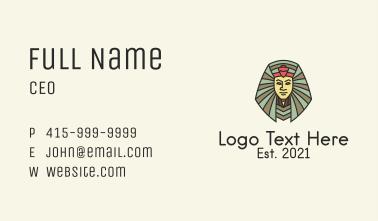 Egyptian Royal King  Business Card