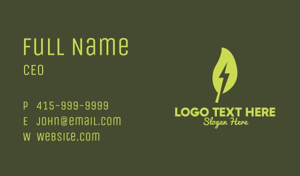 switch - Leaf Lightning Bolt Business card horizontal design
