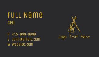 Golden Violin Cello Business Card