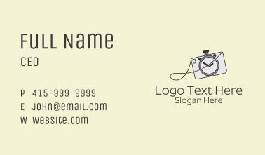 Camera Stopwatch  Business Card