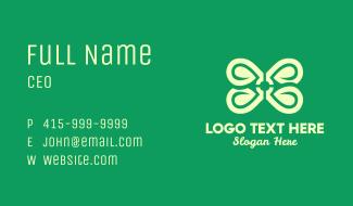 Green Spa Flower Business Card