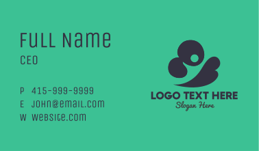 Abstract Cloud Person Business Card