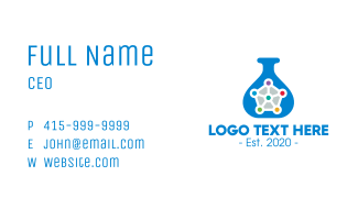 Blue Research Laboratory Business Card