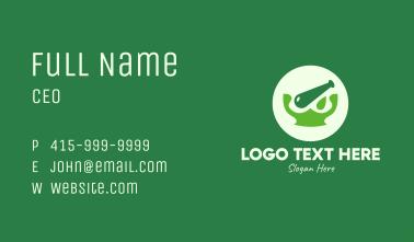 Green Natural Medication Business Card