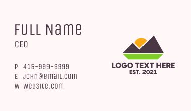 Outdoor Mountain Nature  Business Card
