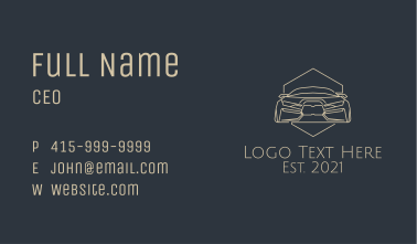 Brown Automobile Badge Business Card