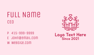 Chair & Table Romantic Business Card