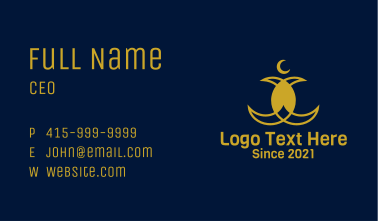 Arabic Crescent Moon  Business Card