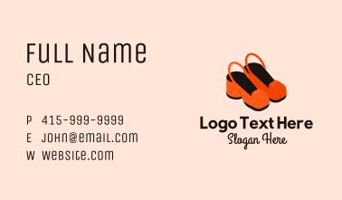 Cute Feminine Shoes  Business Card