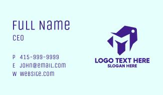 Violet Price Tag Letter M Business Card