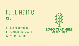 Green Tower Shop Business Card