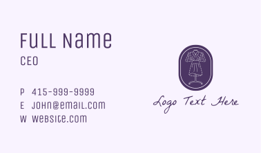 Purple Dress Mannequin Business Card