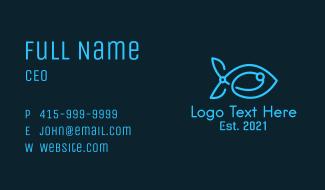 Blue Circuit Tech Fish Business Card