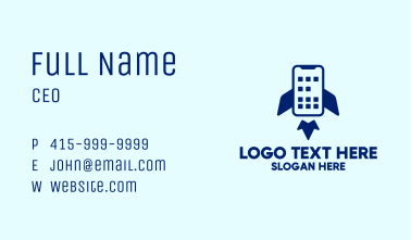 Mobile Phone Rocket  Business Card