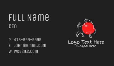 Asian Brush Ox Business Card