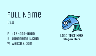 Sad Blue Fish Business Card