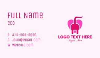 Pink Heart Plug Business Card