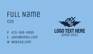 Blue Pixel Disc  Business Card