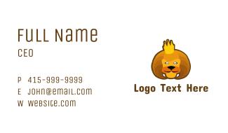 Royal Lion Cartoon Business Card