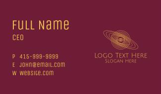 Galaxy Planet Eye Orbit Business Card