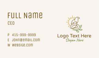 Sun Bird Nest  Business Card