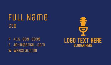 Light Bulb Microphone Business Card
