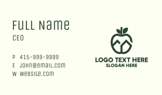 Green Apple House Business Card