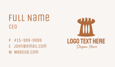 Brown Loaf Bread Business Card