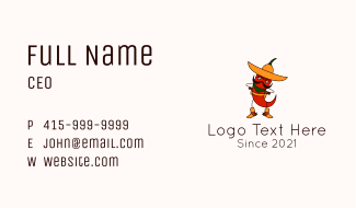 Cowboy Chili Character Business Card