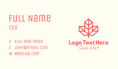 Red Maple Leaf  Business Card