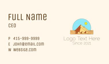 Desert Pyramid Landmark Business Card