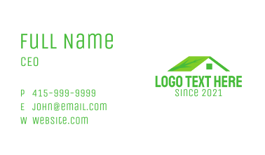 Eco Friendly House  Business Card
