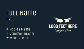 Eagle Wing Transport Business Card