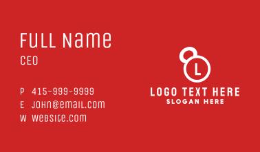 Kettlebell Lettermark Business Card