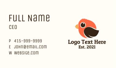 Cute Fluffy Bird Business Card