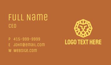 Yellow Geometric Lion Business Card