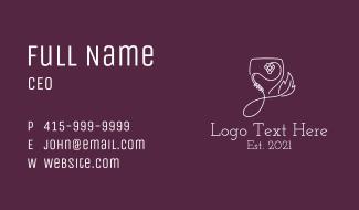 Grape Wine Glass Business Card