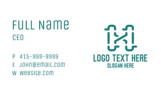 Unique X & H Business Business Card