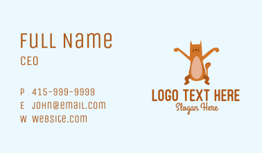 Playful Cat Letter X Business Card