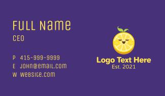 Cute Lemon Slice Business Card
