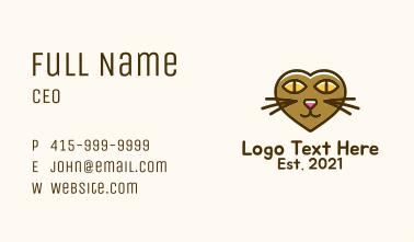 Heart Cat Head Business Card