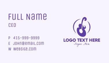 Violet Guitar Instrument Business Card