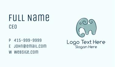 Minimalist Grey Elephant  Business Card