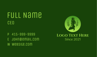 Sexy Nature Woman Business Card