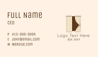 Window Curtain Decoration  Business Card