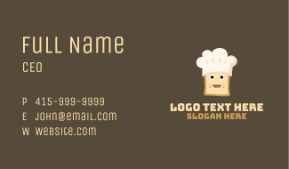 Bread Chef Hat Business Card