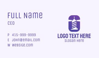 Purple Lighthouse Business Card