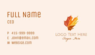 Fall Maple Leaf Business Card